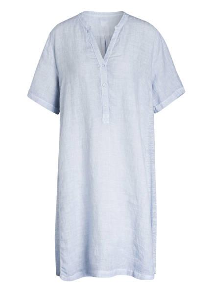 120%lino Hemdblusenkleid aus Leinen, Farbe: HELLBLAU (Bild 1)