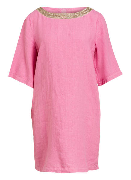 120%lino Leinenkleid, Farbe: ROSA (Bild 1)