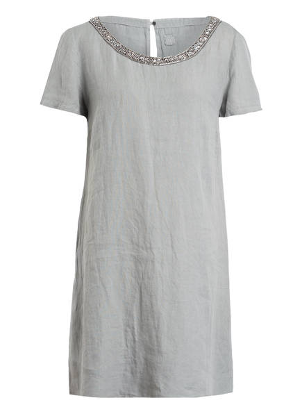 120%lino Leinenkleid, Farbe: GRAU (Bild 1)