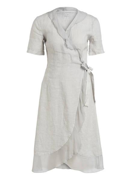 120%lino Leinenkleid im Wickel-Design, Farbe: CREME (Bild 1)