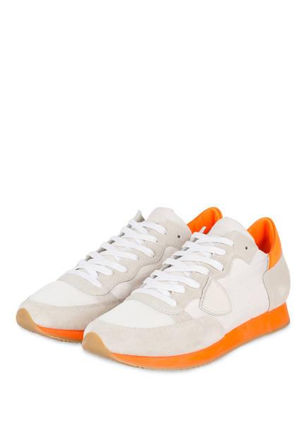 PHILIPPE MODEL Sneaker TROPEZ , Farbe: HELLGRAU/ ORANGE (Bild 1)