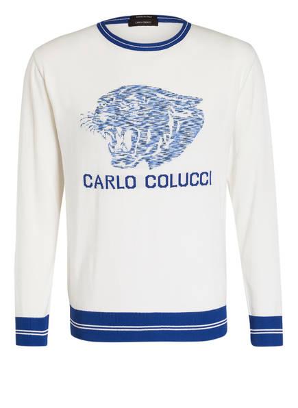 CARLO COLUCCI Pullover , Farbe: WEISS/ BLAU (Bild 1)