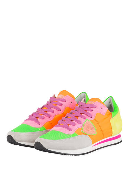 PHILIPPE MODEL Sneaker TROPEZ, Farbe: ORANGE/ GRÜN/ ROSA (Bild 1)