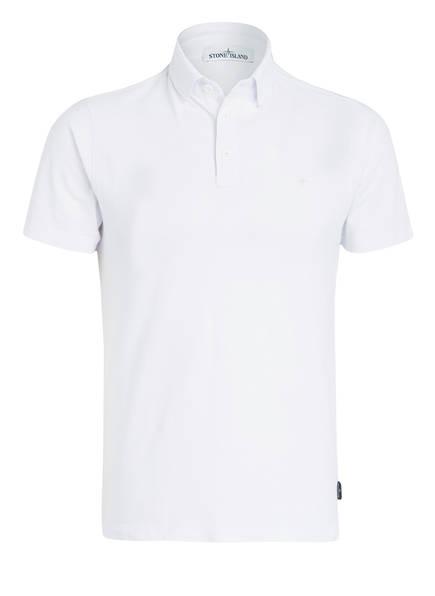 STONE ISLAND Piqué-Poloshirt, Farbe: WEISS (Bild 1)