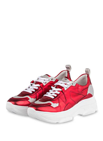 KENNEL & SCHMENGER Plateau-Sneaker CLOUD CHUNKY, Farbe: ROT/ SILBER (Bild 1)