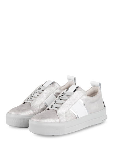 KENNEL & SCHMENGER Sneaker MEGA, Farbe: SILBER/ WEISS (Bild 1)