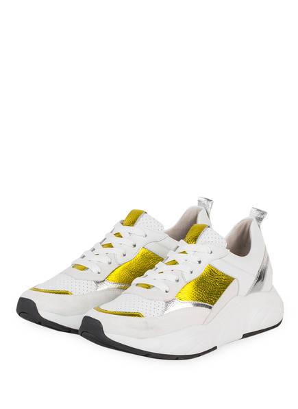 KENNEL & SCHMENGER Plateau-Sneaker , Farbe: WEISS/ GELB (Bild 1)