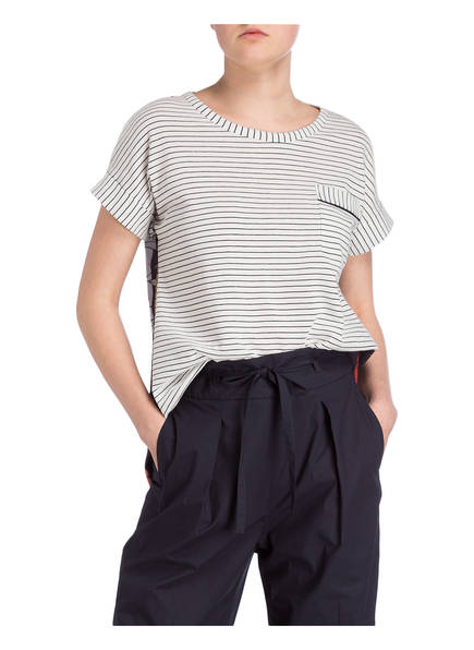 Weiss Luisa Cerano T shirt Dunkelblau COAqF