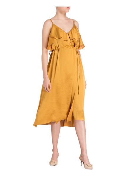 Luisa Cerano Wickeloptik Kleid Gold In rr87Cnv
