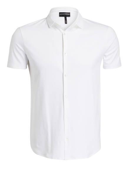 Weiss Emporio Armani Fit hemd Jersey Slim halbarm qPYqav6