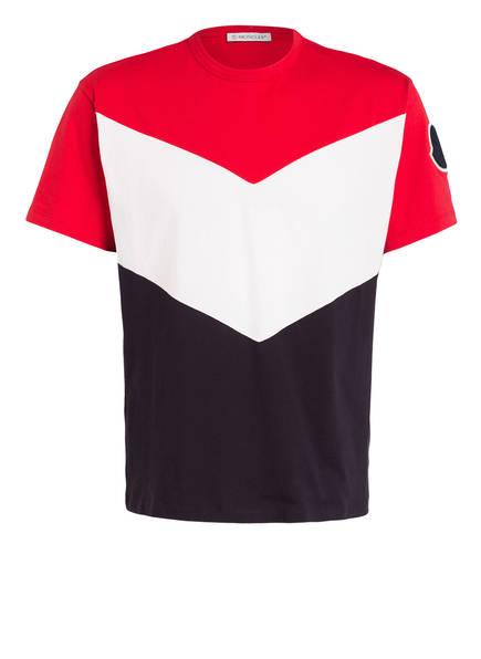 MONCLER T-Shirt MAGLIA, Farbe: ROT/ WEISS/ DUNKELBLAU (Bild 1)