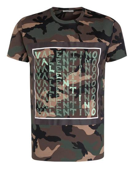 VALENTINO T-Shirt, Farbe: GRÜN/ BRAUN/ SCHWARZ (Bild 1)