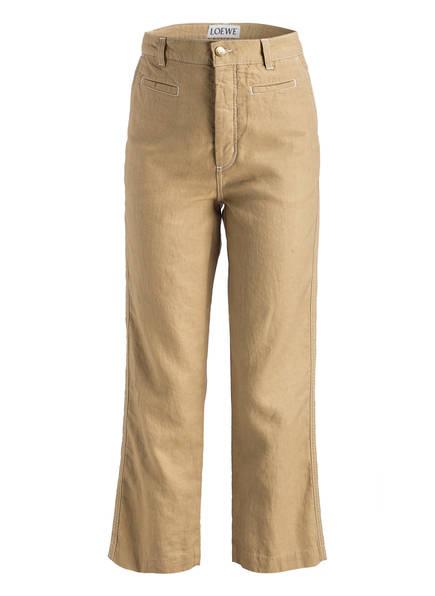 LOEWE Hose mit Leinenanteil, Farbe: BEIGE (Bild 1)
