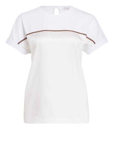 BRUNELLO CUCINELLI Blusenshirt aus Seide, Farbe: WEISS (Bild 1)