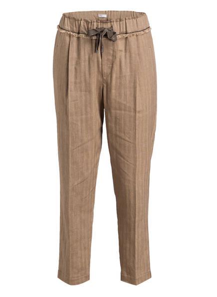 BRUNELLO CUCINELLI 7/8-Hose mit Leinenanteil, Farbe: HELLBRAUN (Bild 1)