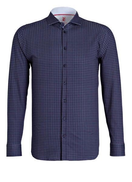 DESOTO Jersey-Hemd Slim Fit, Farbe: DUNKELBLAU/ WEISS/ ROT (Bild 1)