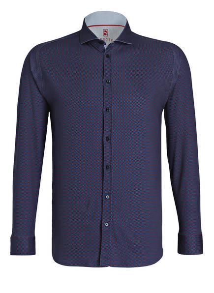 DESOTO Jersey-Hemd Slim Fit, Farbe: DUNKELBLAU/ ROT (Bild 1)
