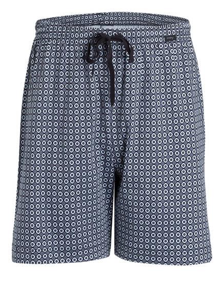 mey Lounge-Shorts, Farbe: GRAU/ SCHWARZ/ HELLBLAU (Bild 1)
