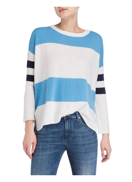 Allude Allude Cashmere Cashmere Blau pullover Weiss n1q8zgxAqw