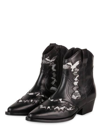 BRONX Cowboy Boots JACKY-JO, Farbe: SCHWARZ/ HELLGRAU (Bild 1)