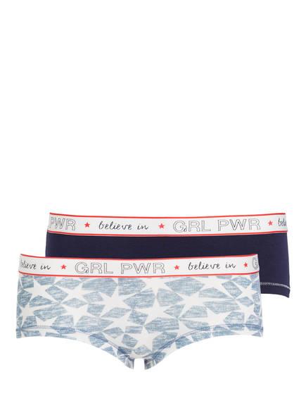 Sanetta 2er-Pack Panties, Farbe: DUNKELBLAU/ HELLBLAU (Bild 1)