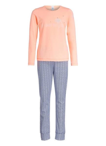 Sanetta Schlafanzug, Farbe: HELLORANGE/ BLAU/ WEISS (Bild 1)