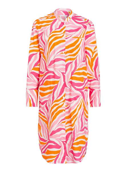 ROBERT FRIEDMAN Hemdblusenkleid LUNA, Farbe: WEISS/ PINK/ ORANGE (Bild 1)
