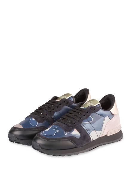 VALENTINO GARAVANI Sneaker CAMOUFLAGE, Farbe: DUNKELBLAU/ ROSÉ/ SCHWARZ (Bild 1)