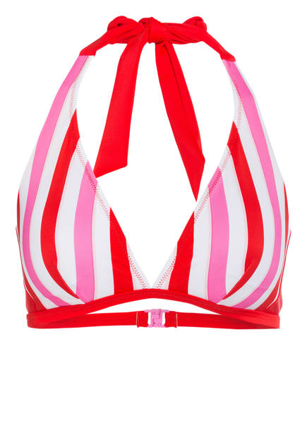 FIRE+ICE Neckholder-Bikini-Top ULLA, Farbe: ROT/ PINK/ WEISS (Bild 1)