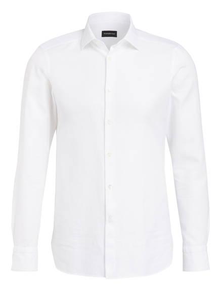 Ermenegildo Zegna Piqué-Hemd Slim Fit, Farbe: WEISS (Bild 1)