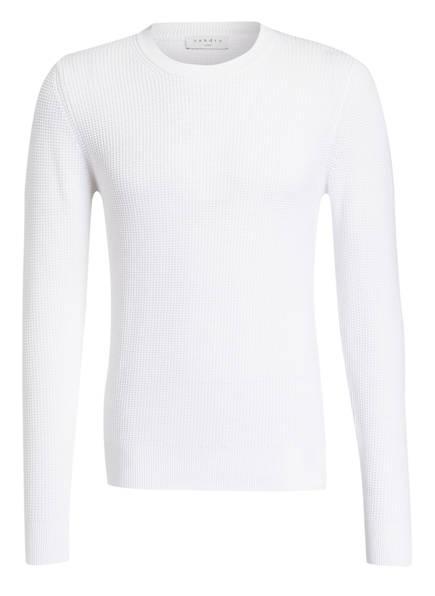 sandro Pullover in Struktur-Strick, Farbe: WEISS (Bild 1)