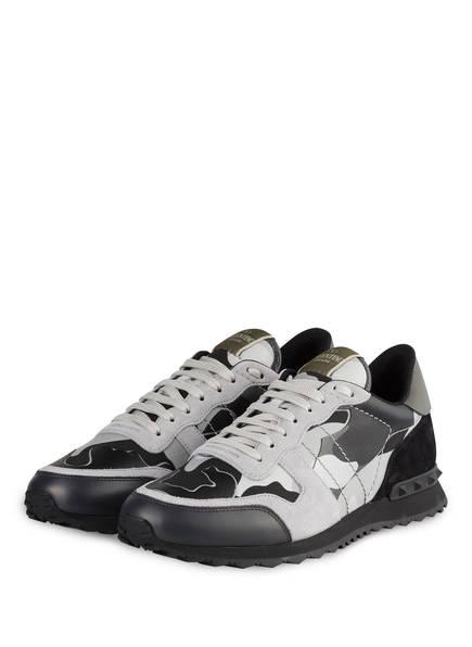 VALENTINO GARAVANI Sneaker ROCKRUNNER CAMOUFLAGE, Farbe: HELLGRAU/ SCHWARZ (Bild 1)