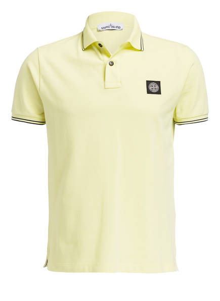 STONE ISLAND Piqué-Poloshirt Slim Fit, Farbe: GELB (Bild 1)