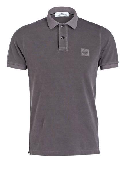 STONE ISLAND Piqué-Poloshirt Slim Fit, Farbe: GRAU (Bild 1)