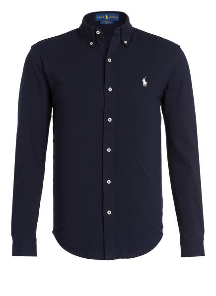 POLO RALPH LAUREN Jerseyhemd Custom Fit, Farbe: NAVY (Bild 1)