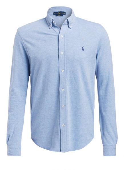 POLO RALPH LAUREN Jersey-Hemd Custom Fit, Farbe: HELLBLAU (Bild 1)