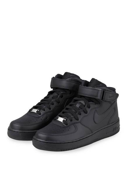 Nike Hightop-Sneaker AIR FORCE 1 MID, Farbe: SCHWARZ (Bild 1)
