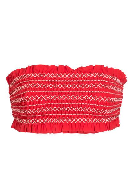 TORY BURCH Bandeau-Bikini-Top, Farbe: ROT/ WEISS (Bild 1)