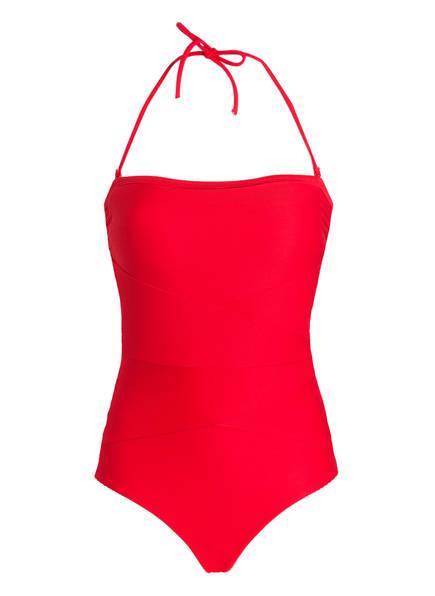miléa Neckholder-Badeanzug MINI RIB, Farbe: ROT (Bild 1)