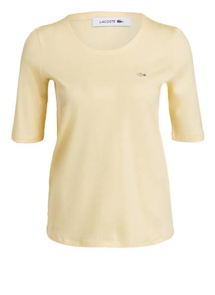 LACOSTE T-Shirt mit 3/4-Arm, Farbe: GELB (Bild 1)