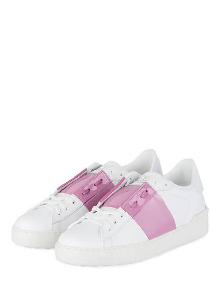 VALENTINO GARAVANI Sneaker OPEN, Farbe: WEISS/ ROSA (Bild 1)