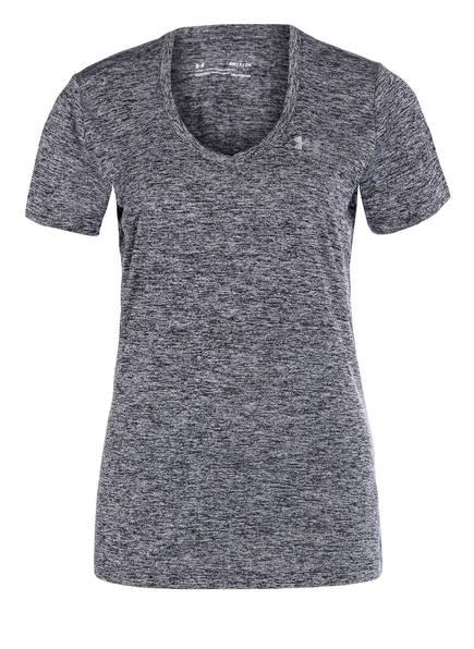 UNDER ARMOUR T-Shirt UA TECH, Farbe: SCHWARZ MELIERT (Bild 1)