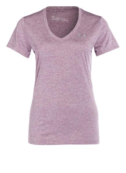 UNDER ARMOUR T-Shirt UA TECH, Farbe: FLIEDER MELIERT (Bild 1)