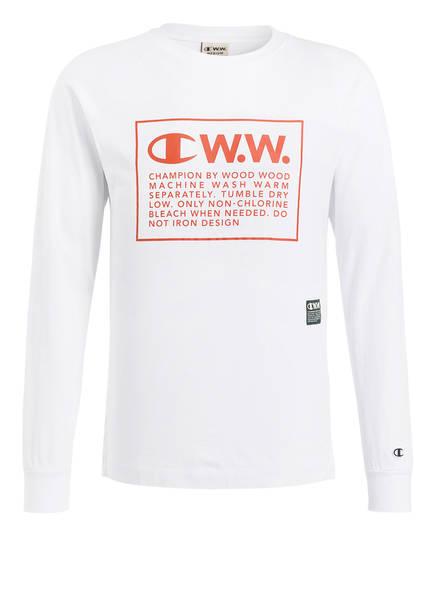 Champion Langarmshirt, Farbe: WEISS (Bild 1)