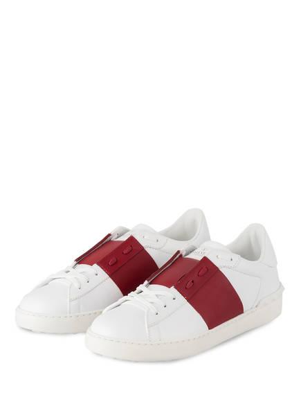 VALENTINO GARAVANI Sneaker OPEN, Farbe: WEISS/ BORDEAUX (Bild 1)