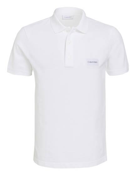 Calvin Klein Piqué-Poloshirt, Farbe: WEISS (Bild 1)