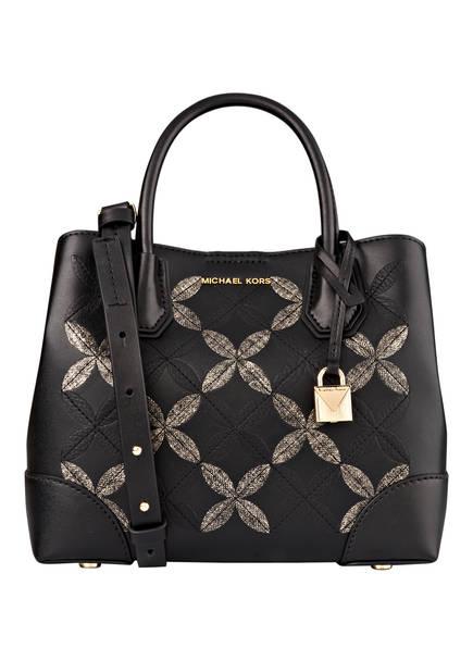MICHAEL KORS Handtasche MERCER GALLERY, Farbe: SCHWARZ/ GOLD (Bild 1)