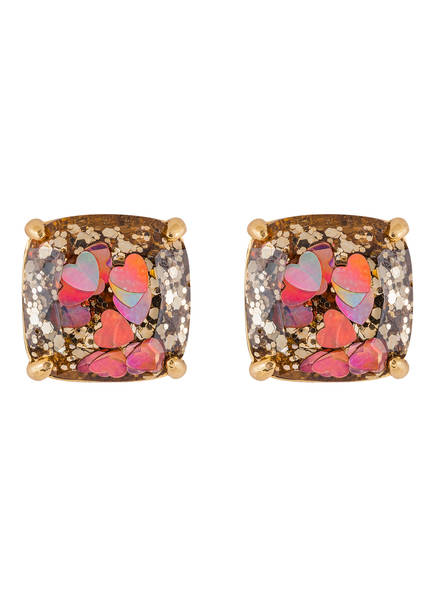 kate spade new york Ohrstecker GLITTER SMALL SQUARE , Farbe: GOLD/ ROSA (Bild 1)