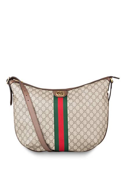 GUCCI Hobo-Bag OPHIDIA GG SUPREME, Farbe: BEIGE/ EBONY (Bild 1)