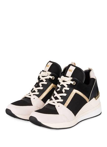 MICHAEL KORS Sneaker GEORGIE , Farbe: SCHWARZ/ WEISS/ GOLD (Bild 1)